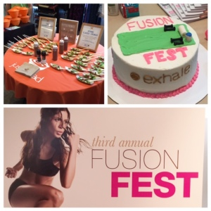 Had the best time getting  a solid barre workout in at Exhale for Fusion Fest!