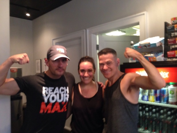 Lauren B. and her favorite Shred instructors!